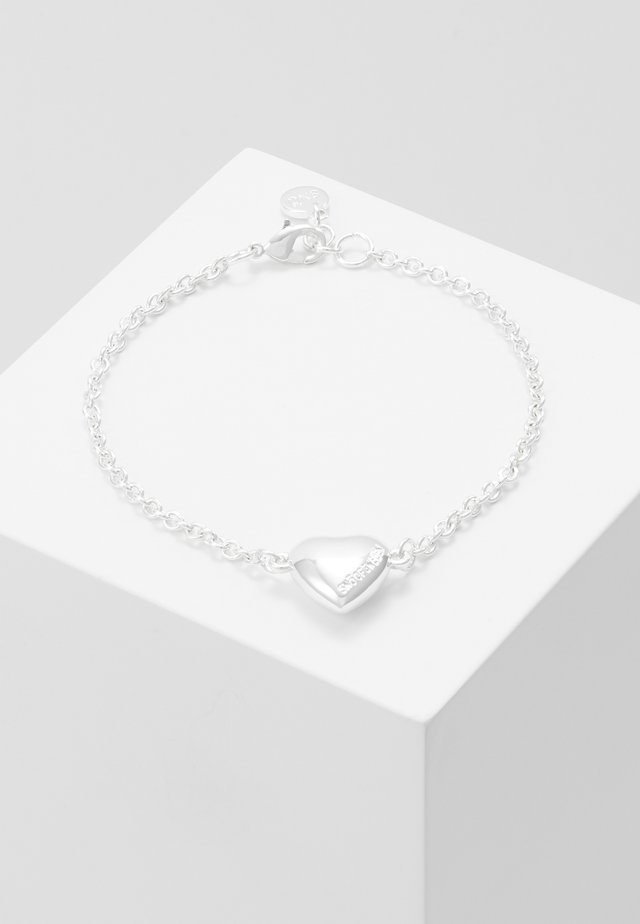 SMALL CARD CHAIN BRACE - Armband - plain silver-coloured