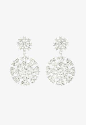 VINTAGE BIG PENDANT EAR - Boucles d'oreilles - silver-coloured