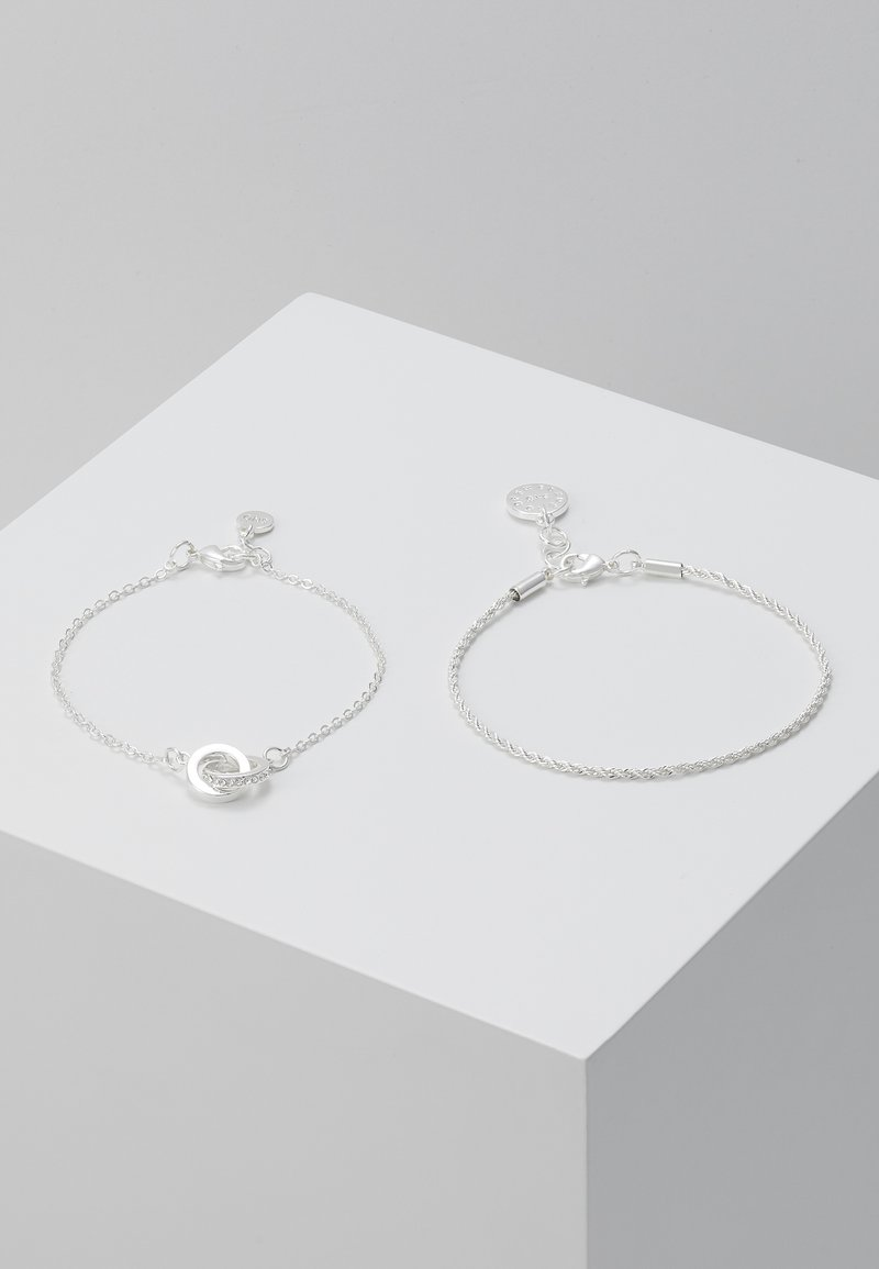 SNÖ of Sweden - ROYAL BRACE 2 PACK - Armband - silver-coloured