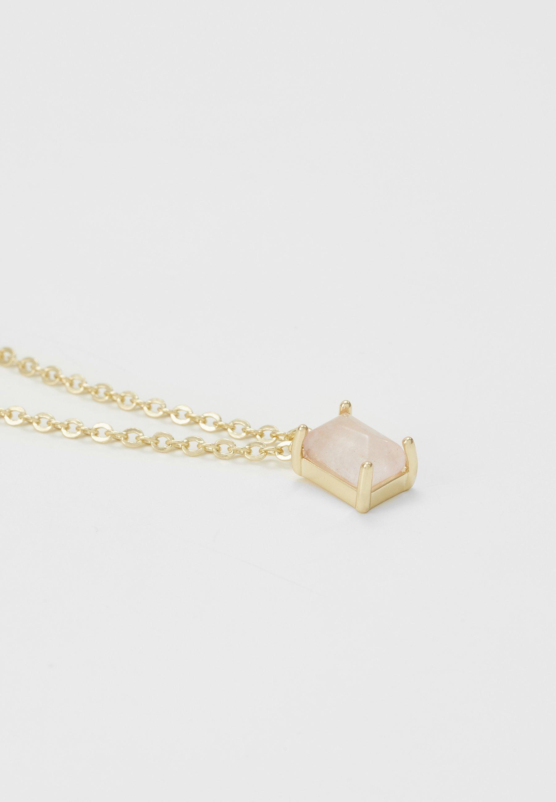 SNÖ of Sweden SMALL PENDANT NECK - Naszyjnik - gold-coloured/pink