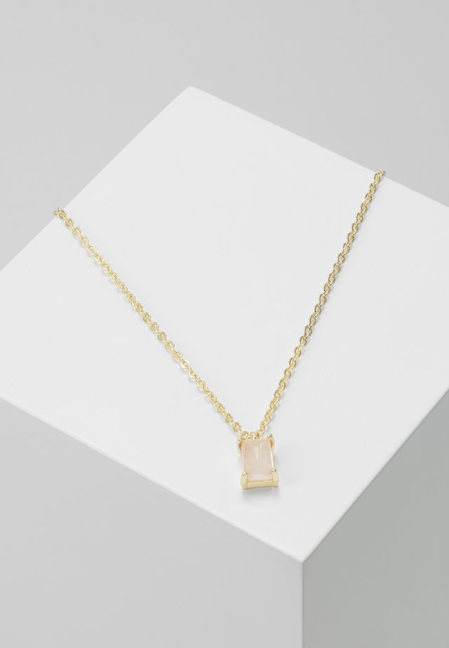 SMALL PENDANT NECK - Necklace - gold-coloured/pink