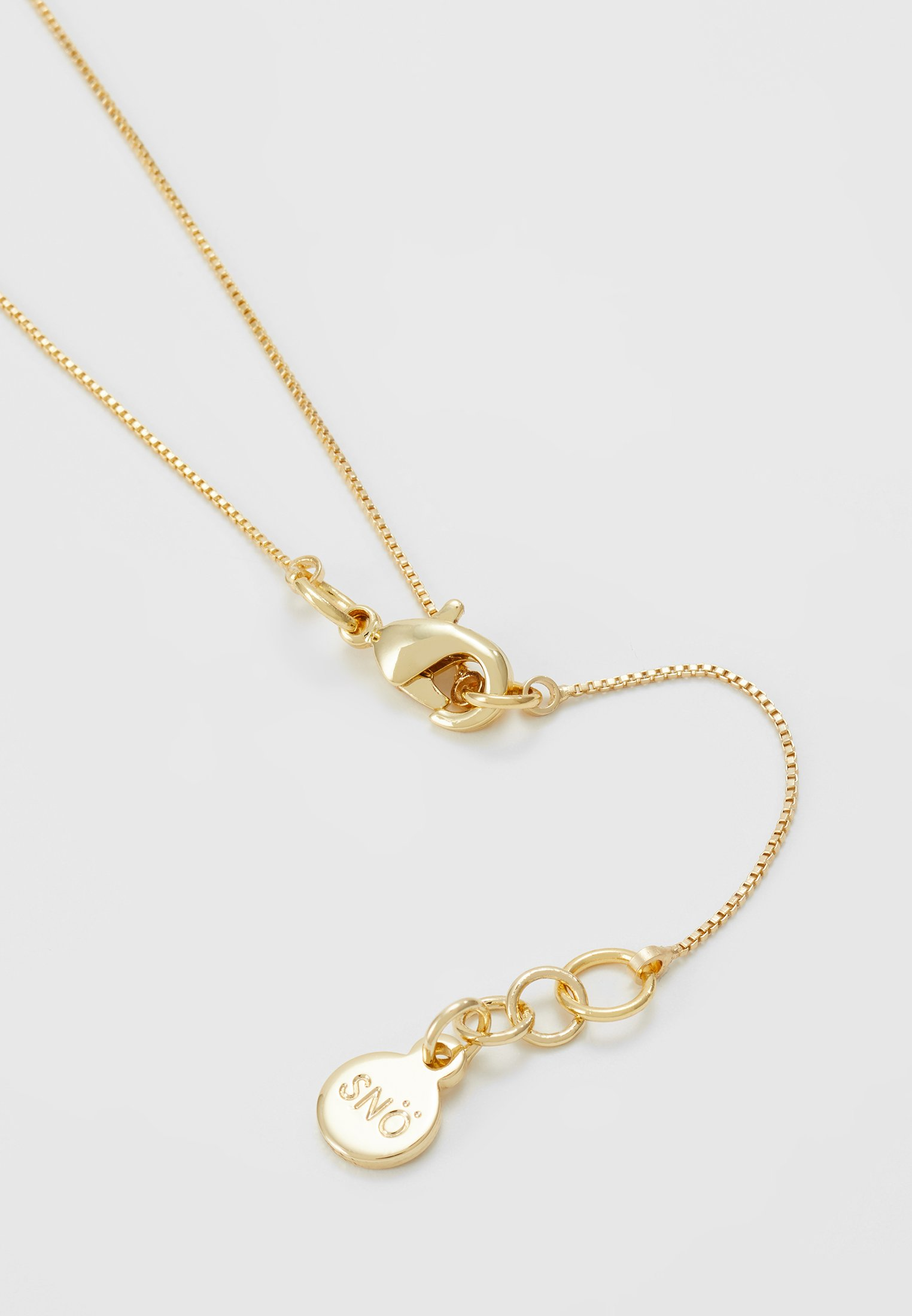 SNÖ of Sweden LEX SMALL PENDANT NECK CLEAR - Halsband - gold-coloured