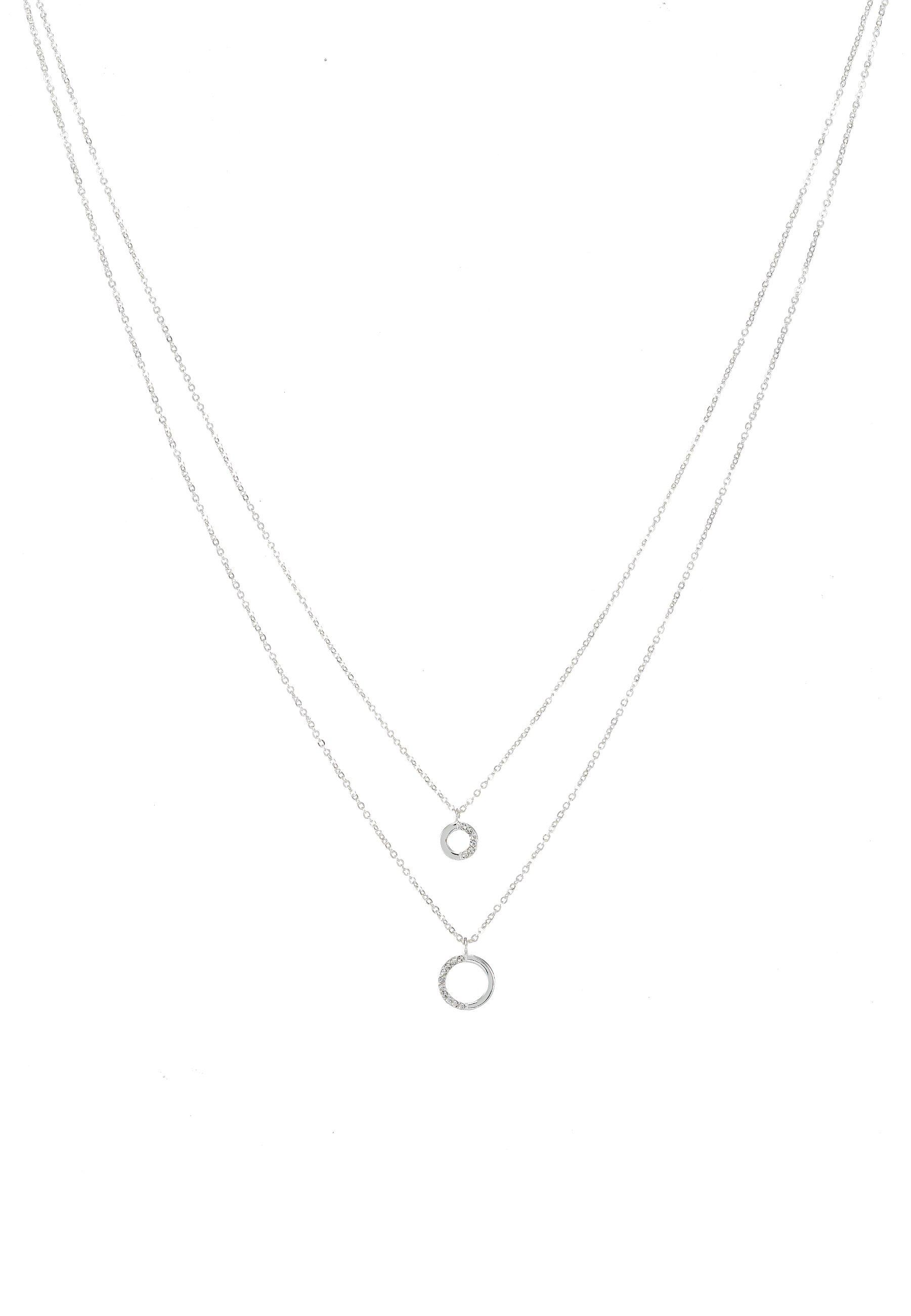 SNÖ of Sweden PORTAL DOUBLE NECK - Naszyjnik - silver-coloured