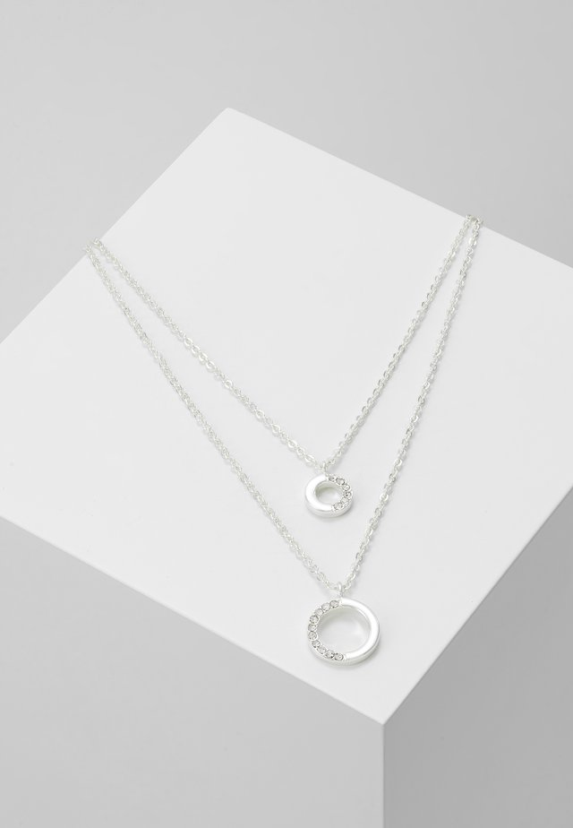 PORTAL DOUBLE NECK - Necklace - silver-coloured