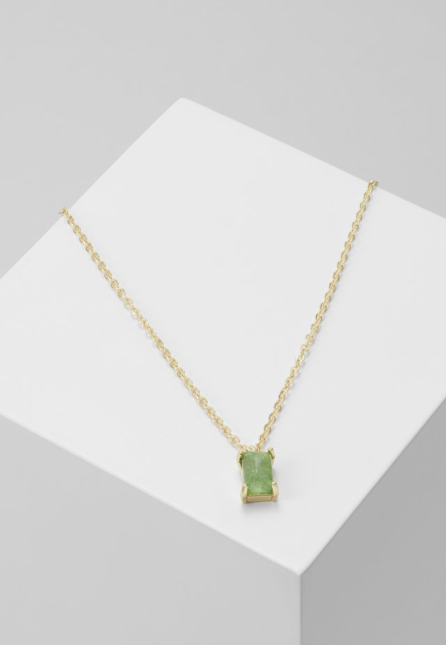 SMALL PENDANT NECK - Necklace - gold-coloured/green