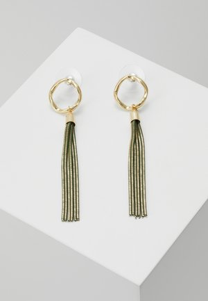 CHARLIZE SMALL TASSEL EAR  - Pendientes - green