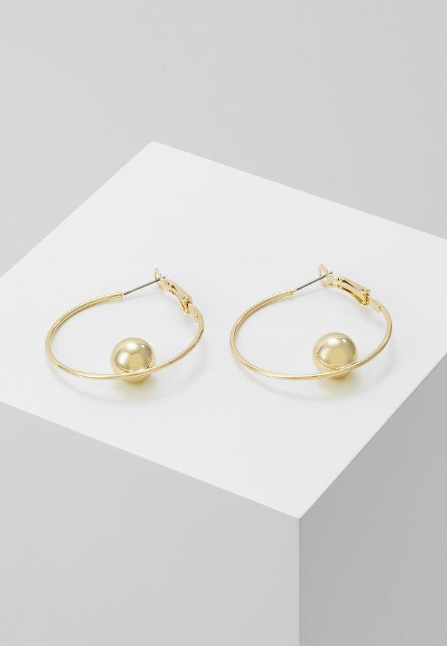 JUNE BIG RING EAR PLAIN  - Ohrringe - gold-coloured