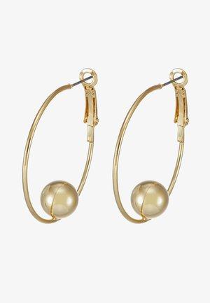 JUNE BIG RING EAR PLAIN  - Kolczyki - gold-coloured