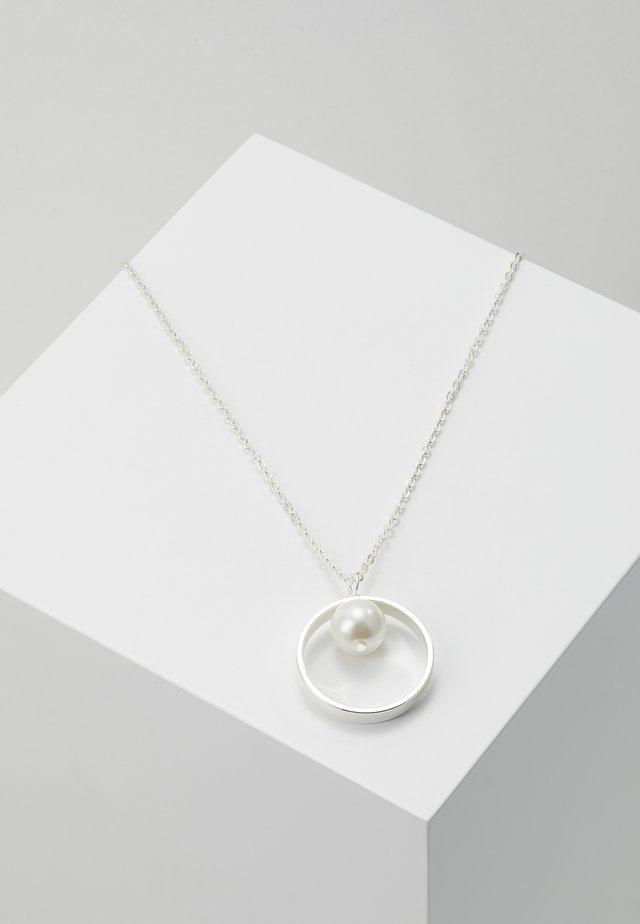 GLOBE PENDANT NECK - Halskæder - silver-coloured/white