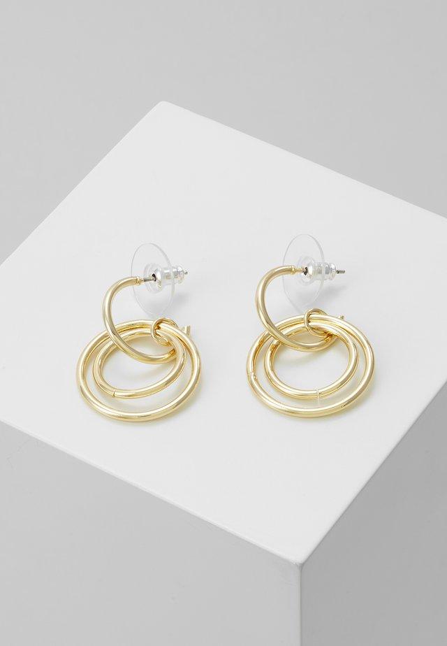 LIO SMALL PENDANT EAR PLAIN  - Øredobber - gold-coloured