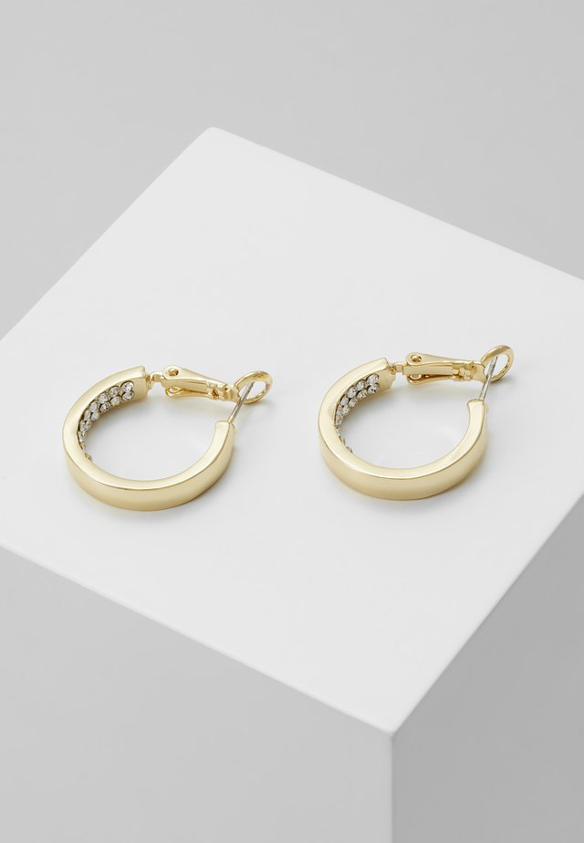 CASEY RING EAR CLEAR - Earrings - gold-coloured