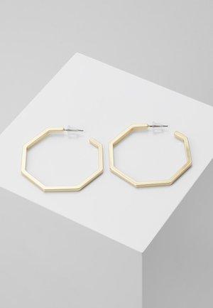 PAUS BIG OVAL EAR PLAIN  - Pendientes - gold