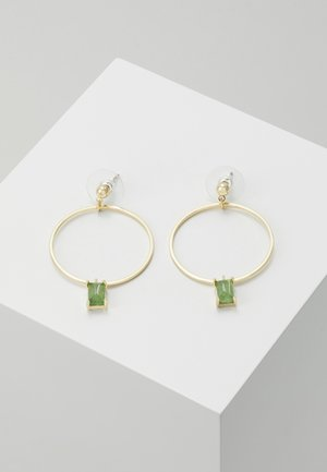 SATIN RING PENDANT EAR  - Orecchini - green