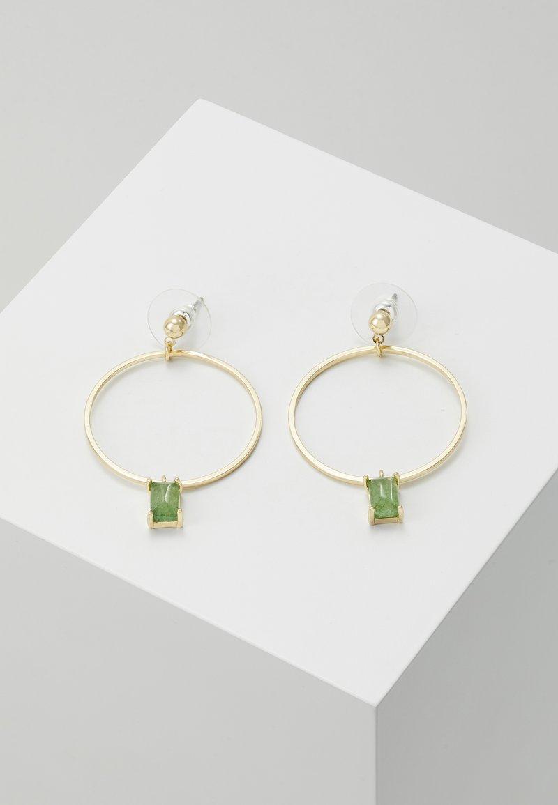 SNÖ of Sweden - SATIN RING PENDANT EAR  - Boucles d'oreilles - green