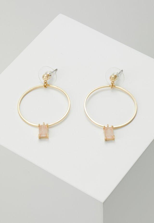RING PENDANT EAR  - Earrings - pink