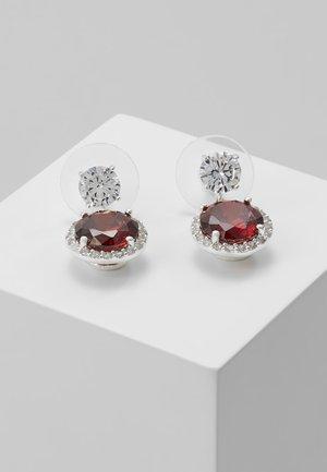 LEX PENDANT EAR - Boucles d'oreilles - silver-coloured/red