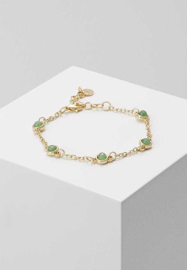 AGATHA SMALL CHAIN BRACE - Armbånd - gold-coloured/green