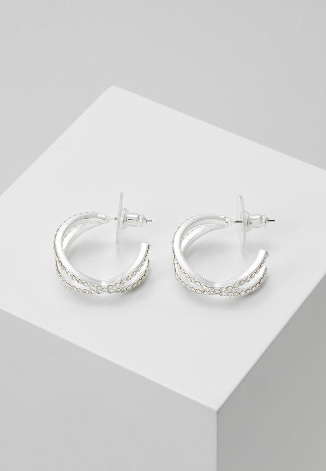 FRANCIS OVAL EAR - Örhänge - silver-coloured/clear