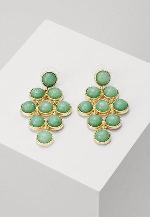 AGATHA SMALL STONE PENDANT EAR - Korvakorut - gold-coloured/green