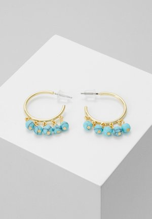 ROC RING EAR - Earrings - gold-coloured/turquoise