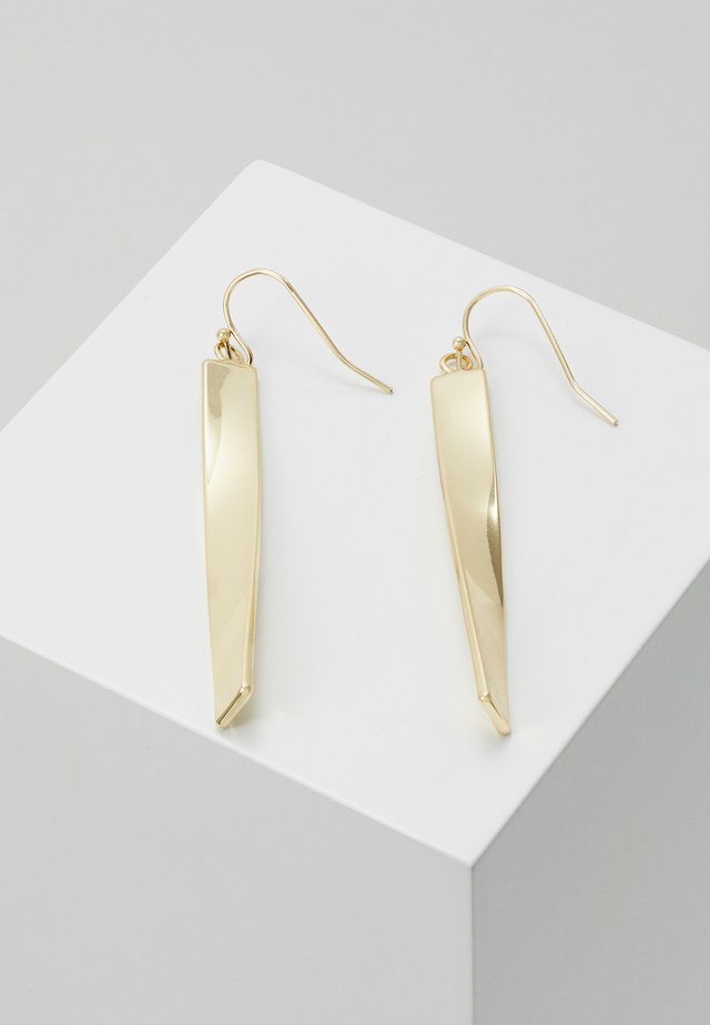 JAIN LONG PENDANT EAR - Earrings - gold-coloured