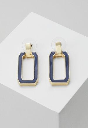 ALLEY EAR - Pendientes - gold-coloured/dark blue
