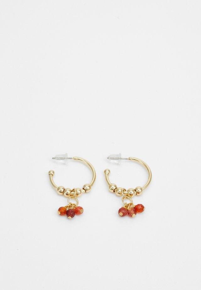 BREY RING EAR - Øreringe - gold-coloured/orange