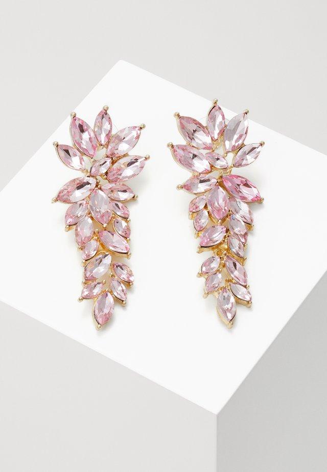 RUSH PENDANT - Korvakorut - gold-coloured/pink