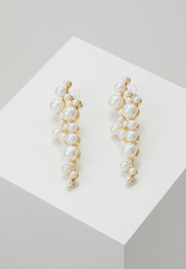 LENA LONG PEARL EAR  - Örhänge - gold-coloured/white