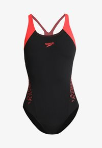 Speedo - BOOM - Swimsuit - black/lava red - 4
