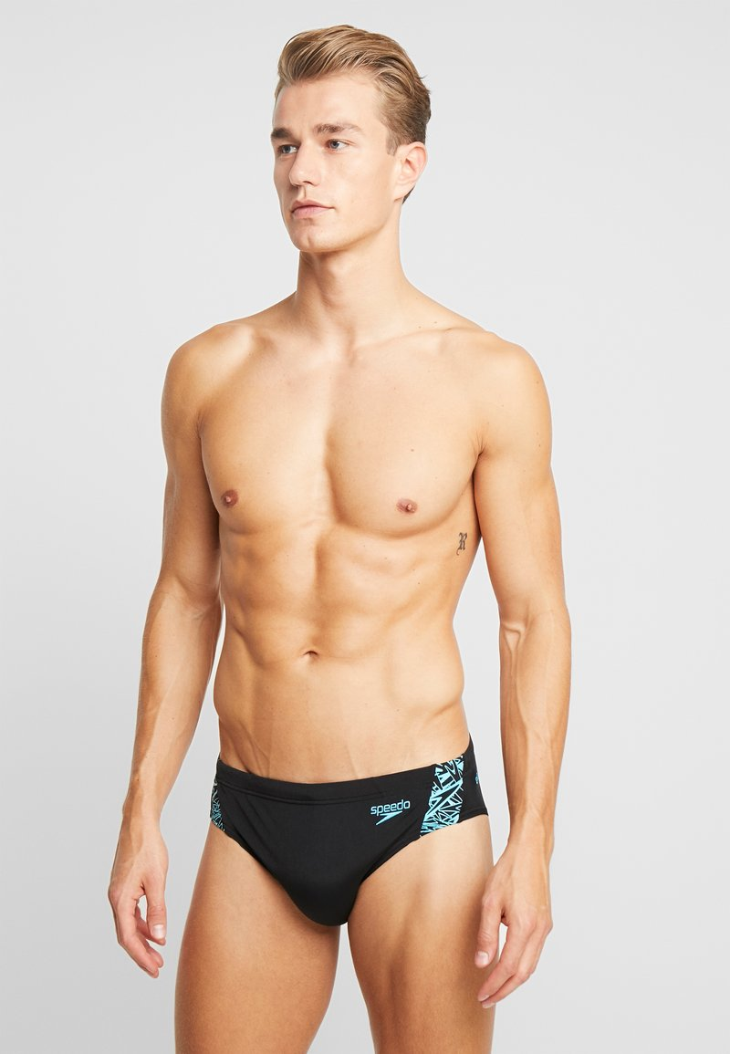 Speedo - BOOM  - Swimming briefs - black/aquasplash