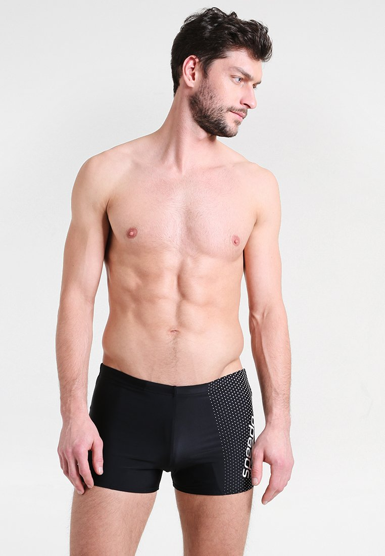 Speedo - GALA - Swimming trunks - black/white
