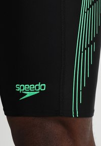 Speedo - PLACEMENT PANEL JAMMER - Zwemshorts - black/usa charcoal/fake green - 4