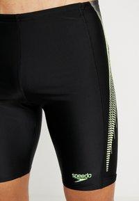 Speedo - PLACEMENT PANEL JAMMER - Zwemshorts - black/bright zest/oxid grey - 3