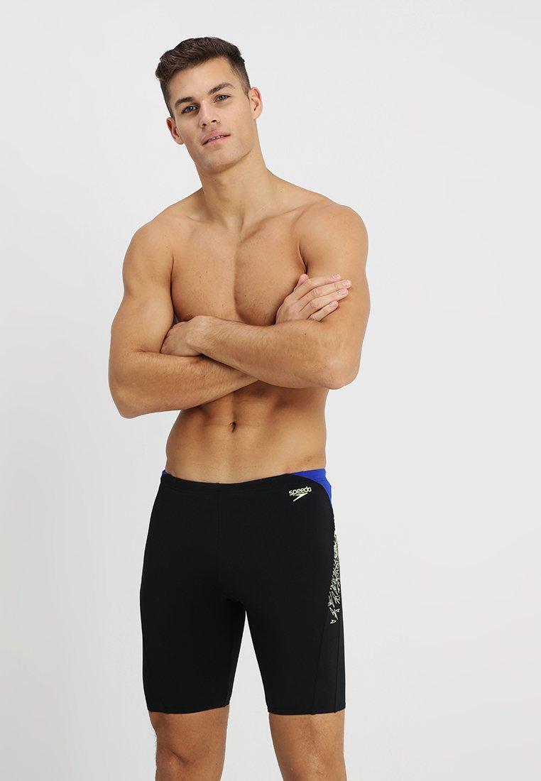 Speedo - BOOM SPLICE JAMMER - Swimming trunks - black/green