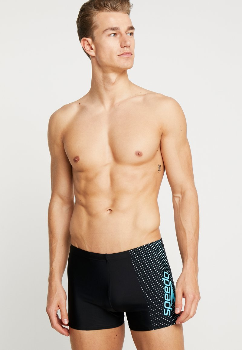 Speedo - GALA LOGO AQUASHORT - Badeshorts - black/aquasplash