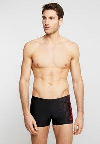 Speedo - GALA LOGO AQUASHORT - Swimming trunks - black/lava red - 0