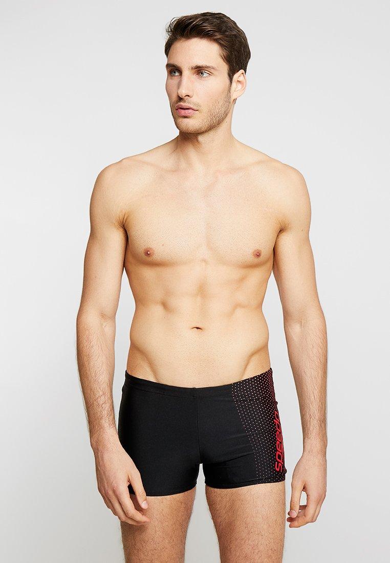 Speedo - GALA LOGO AQUASHORT - Swimming trunks - black/lava red