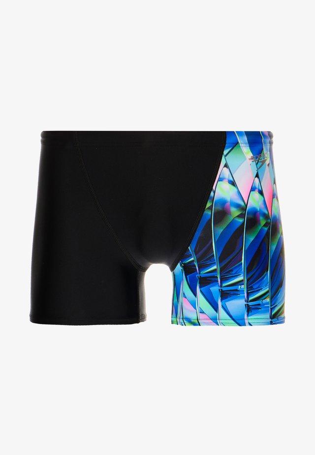 FRACTAL PANEL - Badehose Pants - black/chroma blue/aquasplash