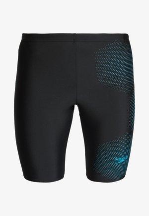 TECH LOGO JAM - Zwemshorts - tech black/pool blue