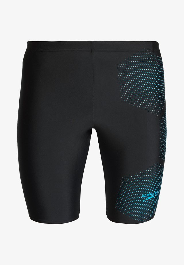 TECH LOGO JAM - Badehose Pants - tech black/pool blue