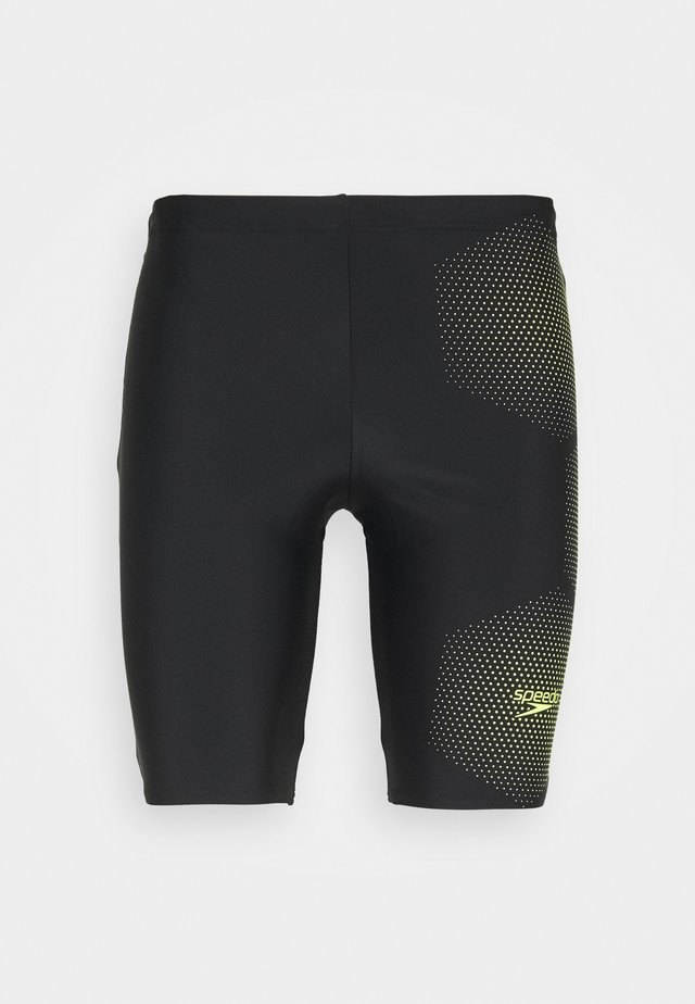 TECH PLACEMENT JAMMER - Badeshorts - black/fluo yellow
