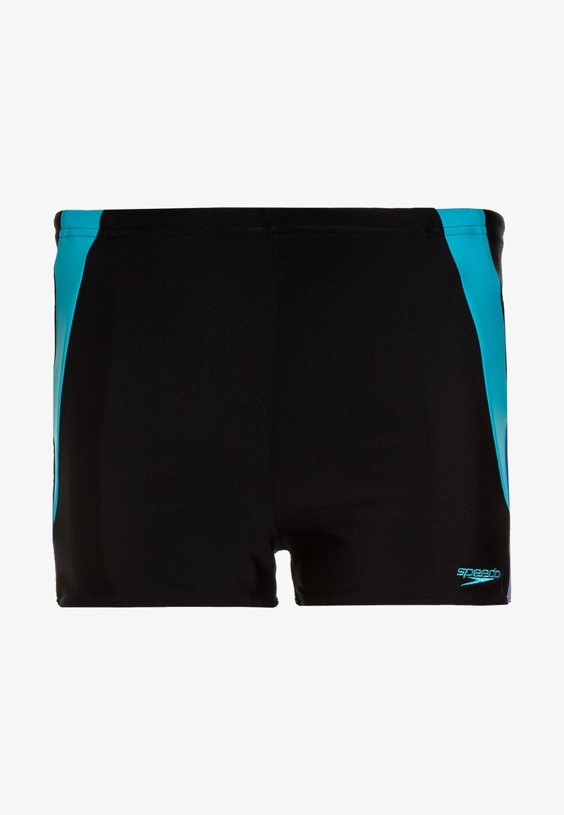 Speedo - COLOUR BLOCK  - Badehose Pants - black/amparo blue/turquoise