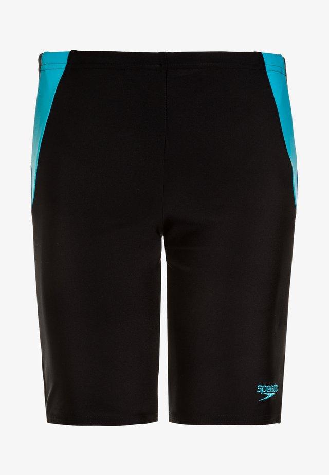 COLOUR BLOCK JAM - Badebukser - black/amparo blue/turquoise