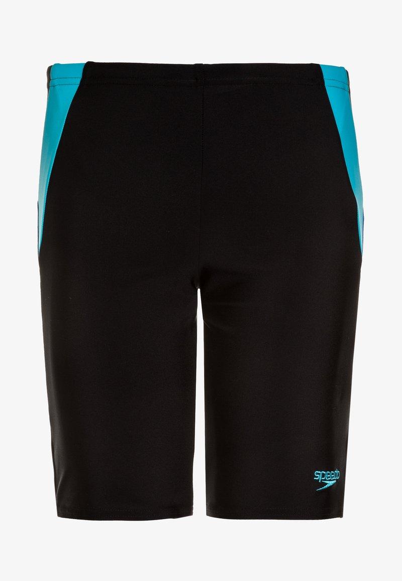Speedo - COLOUR BLOCK JAM - Badehose Pants - black/amparo blue/turquoise