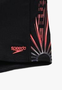Speedo - LOGO PANEL AQUASHORT - Uimashortsit - echo shater black/psy red/oxid grey - 3