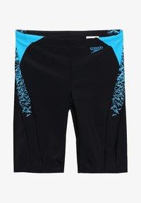 Speedo - BOOM SPLICE JAMMER - Swimming trunks - black/windsor blue - 2