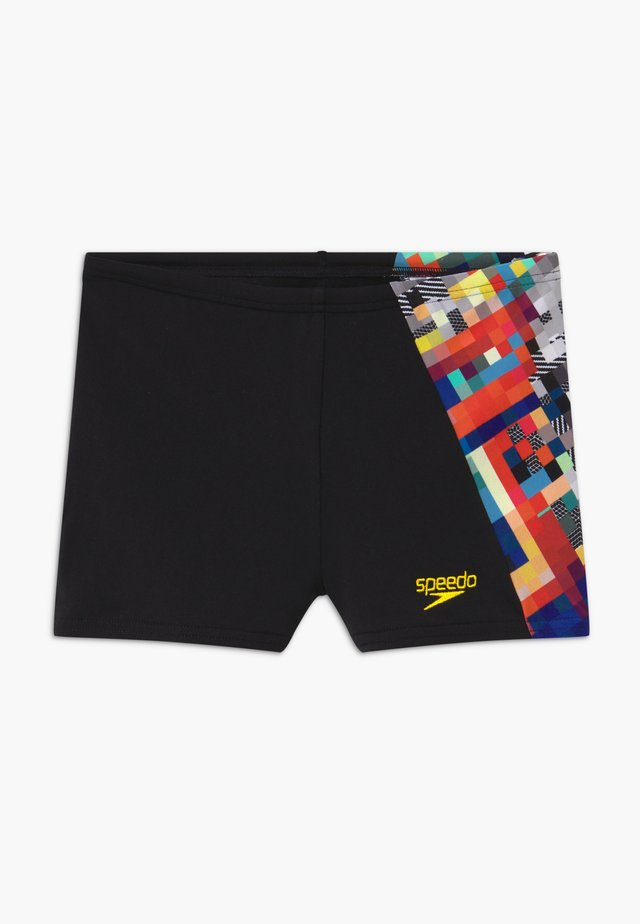 DIGITAL - Swimming trunks - black/white