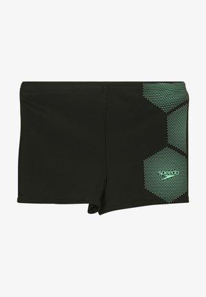 TECH - Kąpielówki - black/green glow