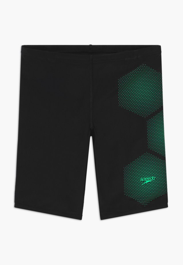 TECH JAMMER  - Zwemshorts - black/green glow